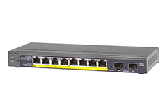 NETGEAR 8-Port Gigabit PoE Smart Switch with 2 Gigabit Fiber SFP